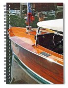 Chris Craft Runabout On Geneva Spiral Notebook