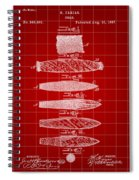 Cigar Patent 1887 - Red Spiral Notebook