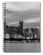 City At The Waterfront, Lake Michigan Spiral Notebook