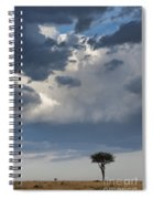 Clouds Over Maasai Mara, Kenya Spiral Notebook