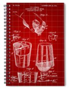Cocktail Mixer And Strainer Patent 1902 - Red Spiral Notebook