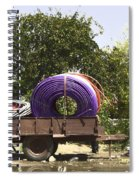 Coils Of Thick Plastic Pipe On A Carrier Wagon Spiral Notebook