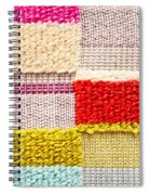 Colorful Textile Spiral Notebook