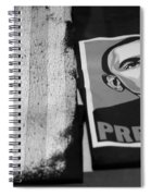 Commercialization Of The President Of The United States Of America In Black And White Spiral Notebook