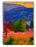 Cowichan Bay From Doman's Road Spiral Notebook