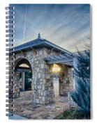 Cultured Stone Terrace Trellis Details Near Park In A City  Spiral Notebook