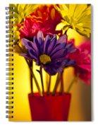 Daisies In A Vase On Shelf Spiral Notebook