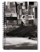 Digging A Ditch At The Side Of A Road In Roorkee Spiral Notebook