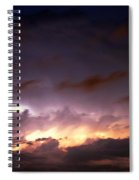 Dying Storm Cells With Fantastic Lightning Spiral Notebook