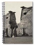 Egypt Luxor Temple Spiral Notebook