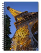 Eiffel Twilight Spiral Notebook