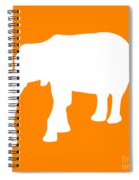 Elephant In Orange And White Spiral Notebook