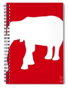 Elephant In Red And White Spiral Notebook