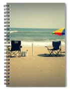 3 Empty Beach Chairs Spiral Notebook