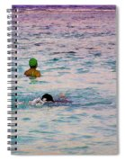 Enjoying The Water In The Coral Reef Lagoon Spiral Notebook