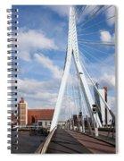 Erasmus Bridge In Rotterdam Spiral Notebook