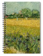 Field With Flowers Near Arles Spiral Notebook