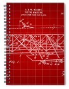 Flying Machine Patent 1903 - Red Spiral Notebook
