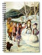 Frosty Frolic Spiral Notebook