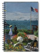 Garden At Sainte-adresse Spiral Notebook