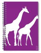 Giraffe In Purple And White Spiral Notebook