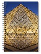 Glass Pyramid Spiral Notebook