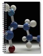 Glutamine Molecule Spiral Notebook