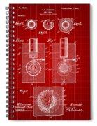 Golf Ball Patent 1902 - Red Spiral Notebook