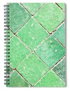 Green Tiles Spiral Notebook