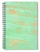Green Wood Spiral Notebook