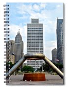 Hart Plaza Detroit Spiral Notebook
