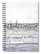Helix Bridge And Road Bridge Next To Each Other In Singapore Spiral Notebook