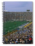 High Angle View Of A Football Stadium Spiral Notebook