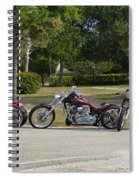 Hogs And Choppers Spiral Notebook