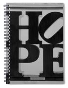 Hope In Black And White Spiral Notebook