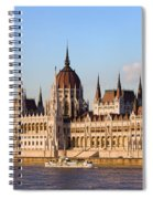 Hungarian Parliament Building In Budapest Spiral Notebook