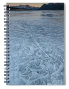 Ice On Abraham Lake Spiral Notebook