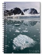 Icebergs Near The Monaco Glacier Spiral Notebook