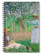 In The Woods At Giverny Spiral Notebook