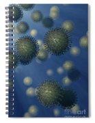 Influenza A Virus Spiral Notebook