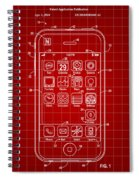 iPhone Patent - Red Spiral Notebook