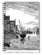 Isle Of Man Peel, 1885 Spiral Notebook