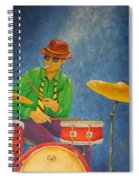 Jazz Drummer Spiral Notebook