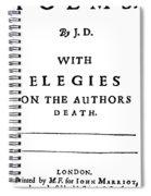 John Donne (1572-1631) Spiral Notebook