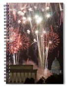 July 4th Fireworks Spiral Notebook