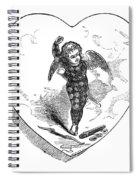 Love Lyrics And Valentine Verses, 1875 Spiral Notebook