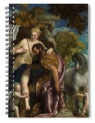 Mars And Venus United By Love Spiral Notebook