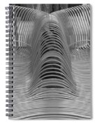 Metal Strips In Black And White Spiral Notebook