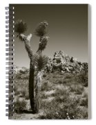 Joshua Tree National Park Landscape No 3 In Sepia Spiral Notebook