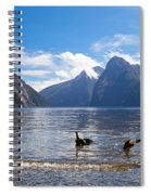 Milford Sound And Mitre Peak In Fjordland Np Nz Spiral Notebook
